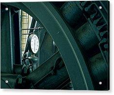 Factory Elements Acrylic Print by Akos Kozari