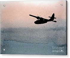 Fade Into Nothingness Pby Over Empty Sea Acrylic Print
