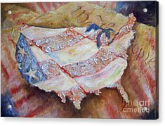 Faded Glory Acrylic Print by Deborah Smith