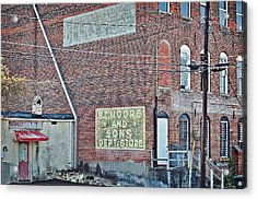 Acrylic Print featuring the photograph Faded Signs by Linda Brown