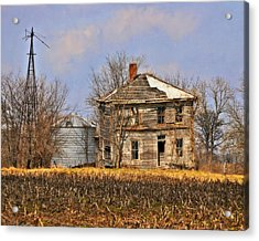 Fading Farm Acrylic Print by Marty Koch