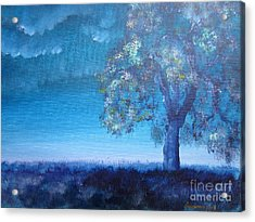 Acrylic Print featuring the painting Fading Light by Laurianna Taylor