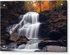 Fading October Daylight On Shawnee Falls Acrylic Print