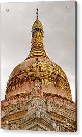 Fading Stupa Gilding Of Small Monastery Near West Pwazaw Village Bagan Burma Acrylic Print by PIXELS  XPOSED Ralph A Ledergerber Photography