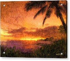 Fading Sunset Acrylic Print by Wayne Pascall