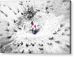 Fading Universe Acrylic Print by Roozbeh Roostaei