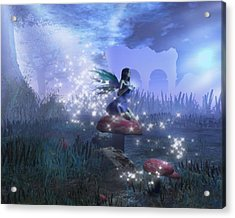 Acrylic Print featuring the digital art Faerie by David Mckinney