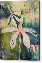 Faerie Fields Acrylic Print by Vivian Mora