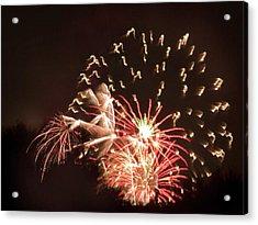 Faerie In The Fireworks Acrylic Print by Terri Harper