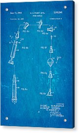 Faget Space Capsule Patent Art 2 1963 Blueprint Acrylic Print by Ian Monk