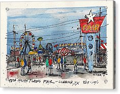 Acrylic Print featuring the mixed media Fair Time by Tim Oliver