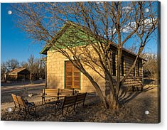 Acrylic Print featuring the photograph Fairbank Schoolhouse by Beverly Parks