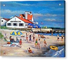 Fairchild Clan' Cape Cod Beach Acrylic Print by Philip Corley