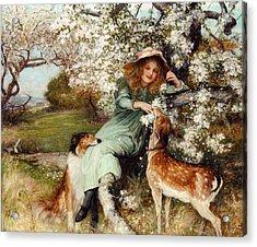 Faire Pledges Of A Fruitful Tree Acrylic Print by Robert Walker Macbeth