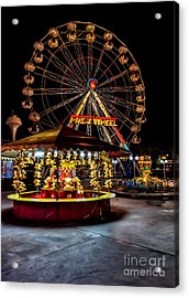 Fairground At Night Acrylic Print by Adrian Evans