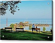 Fairhope Alabama Pier Acrylic Print by Michael Thomas