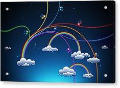 Fairies Made Rainbow Acrylic Print by Gianfranco Weiss
