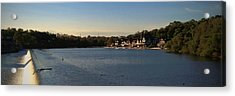 Fairmount Dam And Boathouse Row Acrylic Print by Photographic Arts And Design Studio