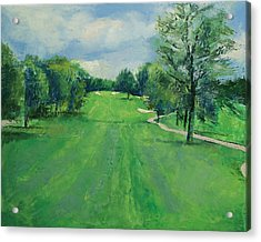 Fairway To The 11th Hole Acrylic Print by Michael Creese