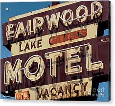 Fairwood Motel Acrylic Print
