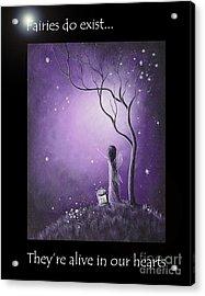 Fairy Art By Shawna Erback Acrylic Print by Shawna Erback