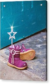 Fairy At The Door  Acrylic Print by Tim Gainey