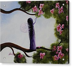 Fairy Blossoms Original Whimsical Art Acrylic Print