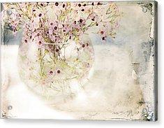 Fairy Bouquet Acrylic Print by Theresa Tahara