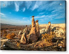 Fairy Chimneys In Cappadocia Acrylic Print by ArdaAdnanKalkan
