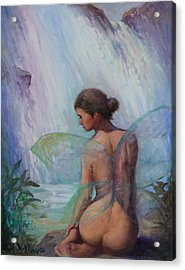 Fairy  Enchanted  Acrylic Print by Gwen Carroll