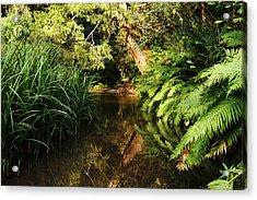 Fairy Forest River Acrylic Print by Alex Sukonkin