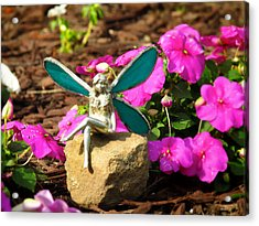 Fairy Garden Acrylic Print by Andrea Dale