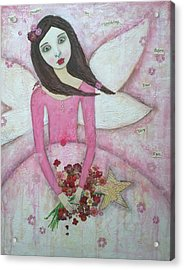 Fairy Godmother Acrylic Print by Denise Sauer
