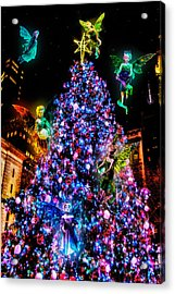 Fairy Holiday Tree Acrylic Print