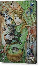 Fairy Hoppert Acrylic Print by Ottilia Zakany