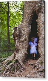 Fairy House Acrylic Print by Vanessa Lassin Photography