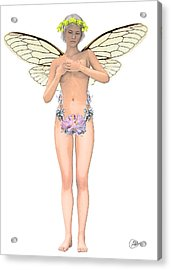 Tinker Bell Modernist Acrylic Print by Quim Abella