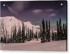 Fairy Meadows Northern Lights Acrylic Print by Ian Stotesbury