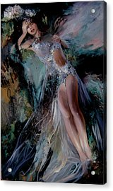 Fairy Acrylic Print by Nelya Shenklyarska