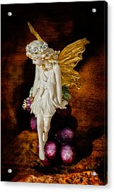 Fairy Of The Harvest Moon Acrylic Print by Dave Garner