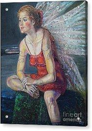 Fairy On A Stone Acrylic Print