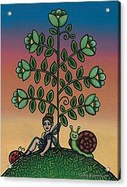 Fairy Series Tina Acrylic Print by Victoria De Almeida