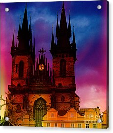 Fairy Tale Castle Prague Acrylic Print