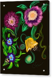 Fairy Tale Flowers Acrylic Print by Christine Fournier