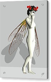 Fairy White  Acrylic Print by Quim Abella