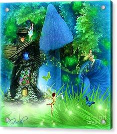Acrylic Print featuring the digital art Fairyland - Fairytale Art By Giada Rossi by Giada Rossi
