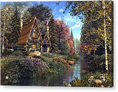 Fairytale Cottage Acrylic Print by Dominic Davison