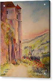 Acrylic Print featuring the painting Fairytale In Perigord France by Beatrice Cloake