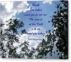 Acrylic Print featuring the photograph Faith by Aimee L Maher Photography and Art Visit ALMGallerydotcom