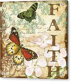 Faith And Butterflies Acrylic Print